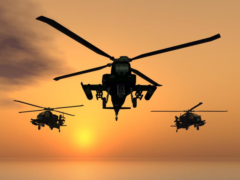 Rotary-wing-military-plane
