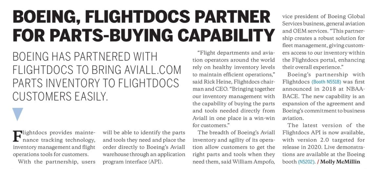 flightdocs news clipping